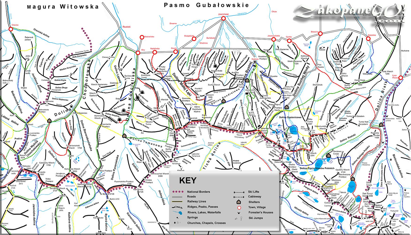 Polish Tatra Hiking Trails